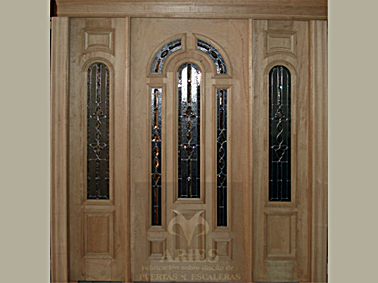 Puertas aries fabricaci n sobre dise o de puertas y - Puertas de madera clasicas ...